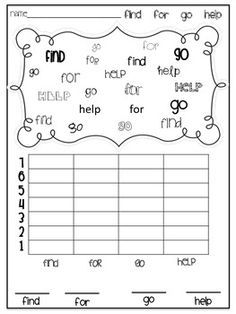 sight word graphing template google search kerryation literacy