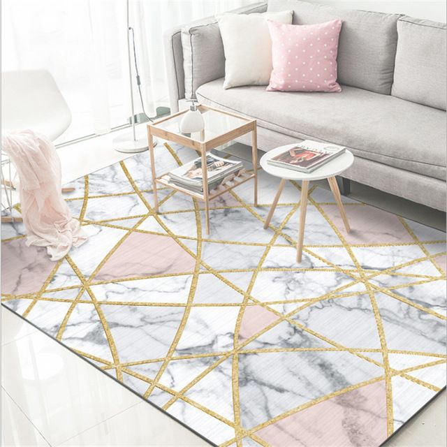 Aovoll Soft Modern Nordic White Marble Gold Line Carpets Bedroom Rugs And Carpets For Home Living Ro Living Room Carpet Room Carpet Bedroom Area Rug