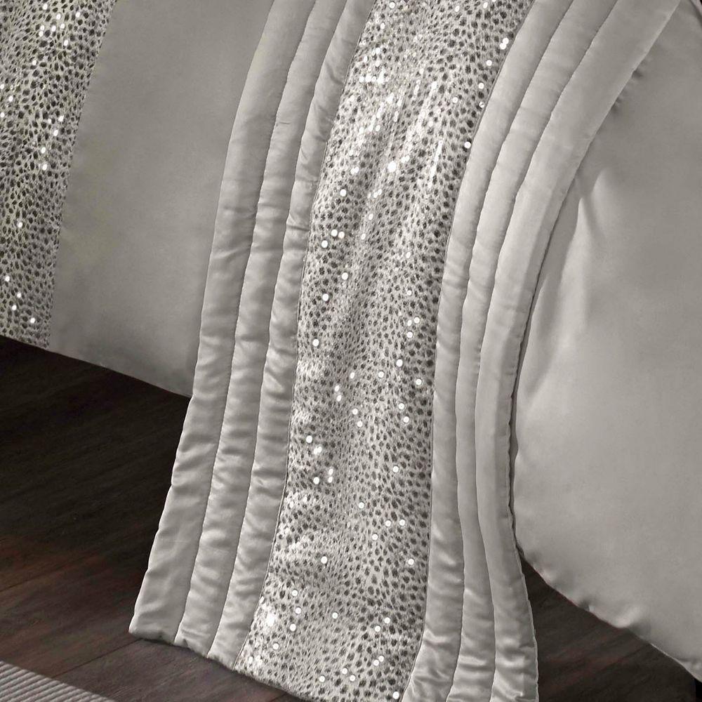 Leopard Silver Sequins Animal Print Bed Runner Kylie Minogue Celebrity Designer Modern