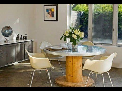 Ideias para decorar a casa com carretel de madeira - YouTube ...
