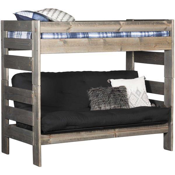 Cheyenne Driftwood Twin Over Twin Futon Bunk Bed Futon