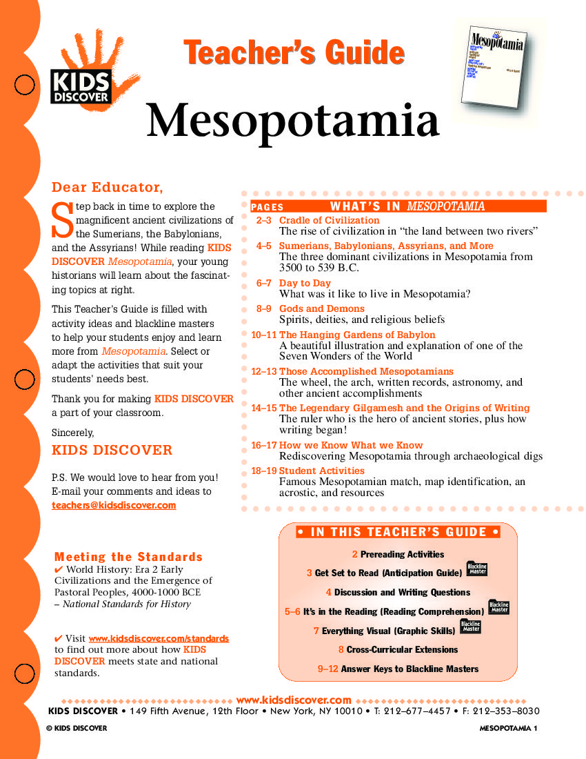 Mesopotamia KIDS DISCOVER register free Kids Discover – Mesopotamia Worksheets
