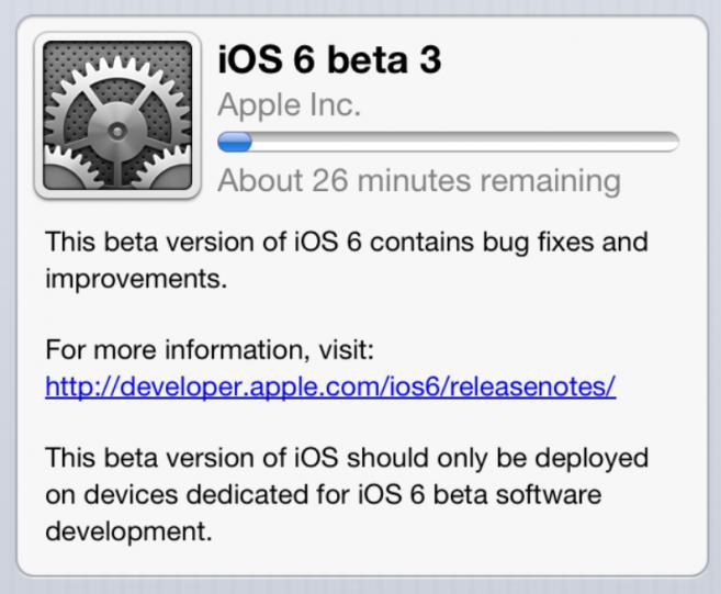 Apple Seeding iOS 6 Beta 3 To Developers App development
