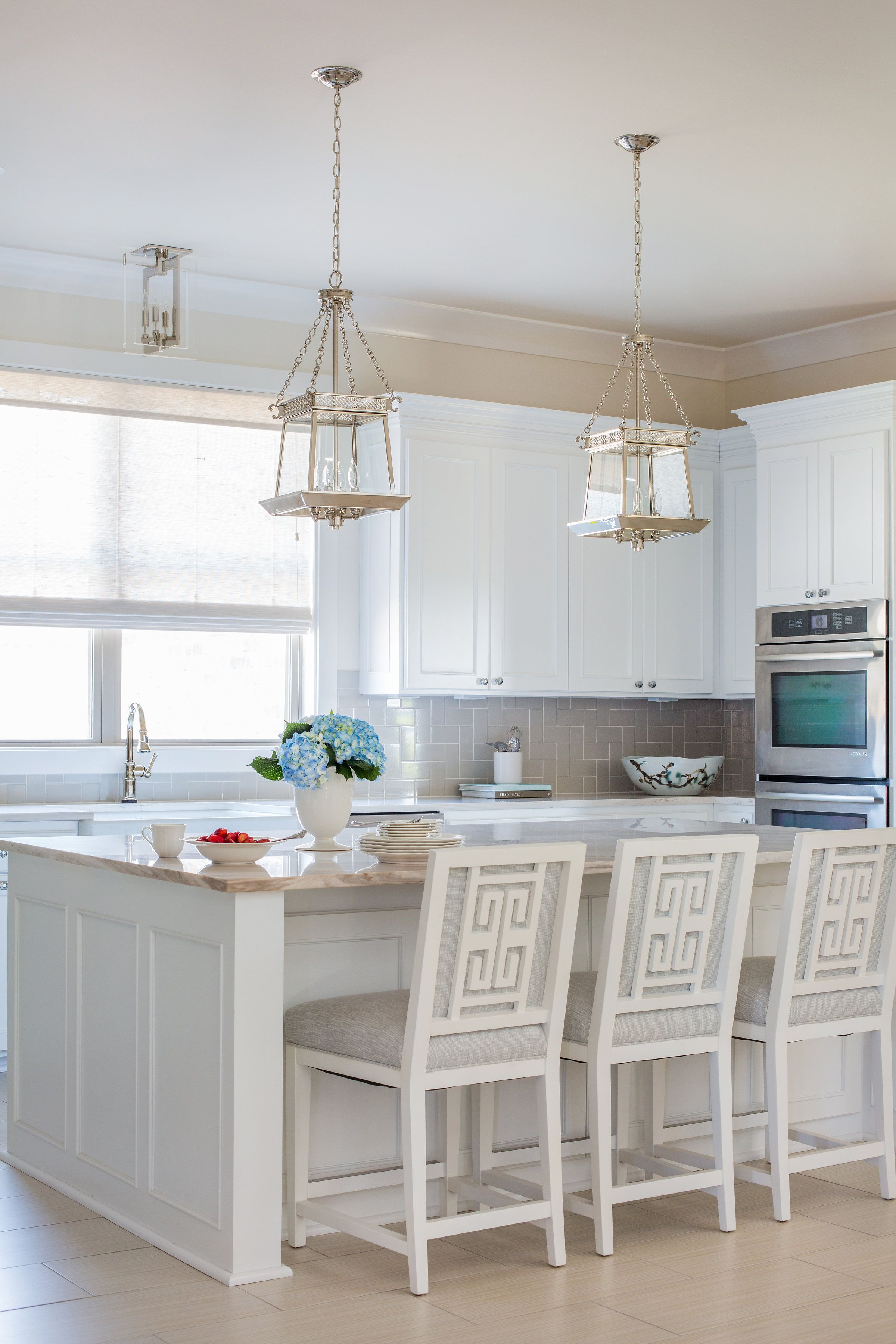Rachel Cannon Limited Interiors | Fresh kitchen featuring marble ...