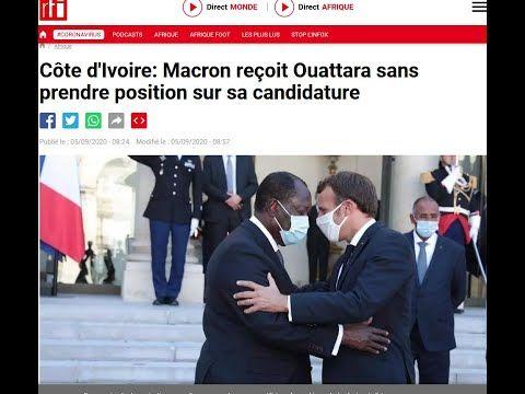 Réception d'Alassane Ouattara par Emmanuel Macron à l'Elysée: l'Affront au Peuple Ivoirien - YouTube