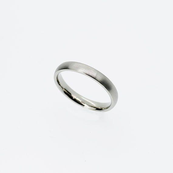 Thin palladium wedding band Palladium ring by TorkkeliJewellery