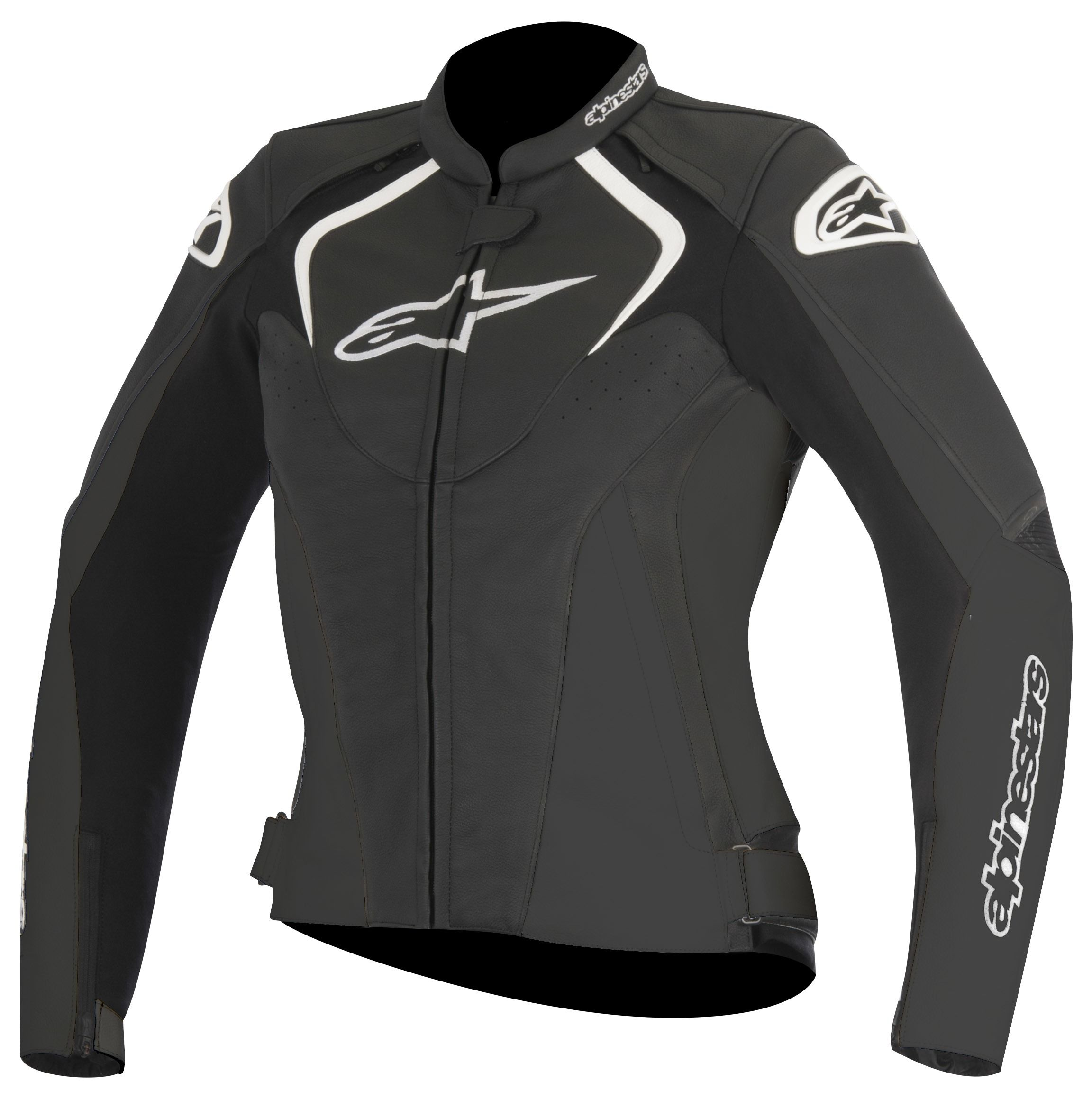 Alpinestars Stella Jaws Leather Jacket Womens Black Leather
