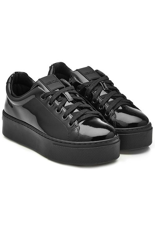 Kenzo 40mm Patent Leather Sneakers In
