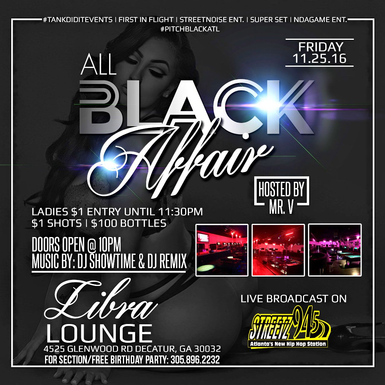 all black affair flyer designed by graphixfly for more