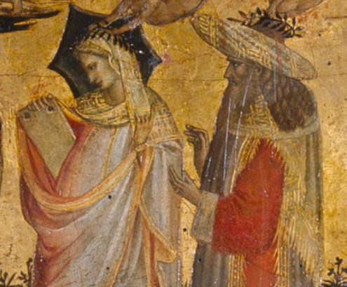 Detail of the painting: Pythagoras and the Arithmetic, from The Seven Liberal Arts (c.1435) Giovanni dal Ponte Source: Museo del Prado
