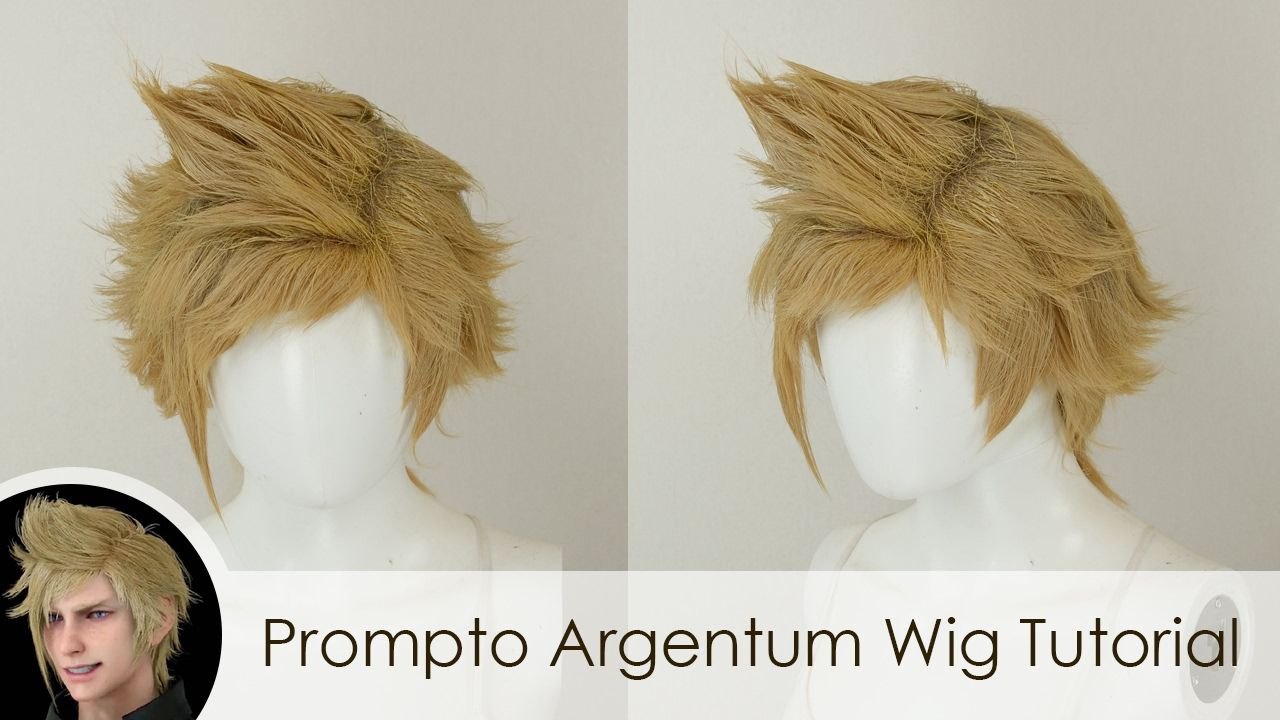 Boy hairstyle wigs prompto argentum wig tutorial  cosplay  pinterest  prompto