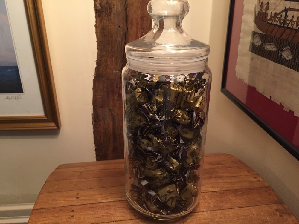 Glass jar full of sugar free sweets chocolate eclairs 500g glass jar full of sugar free sweets chocolate eclairs 500g christmas gift idea negle Gallery