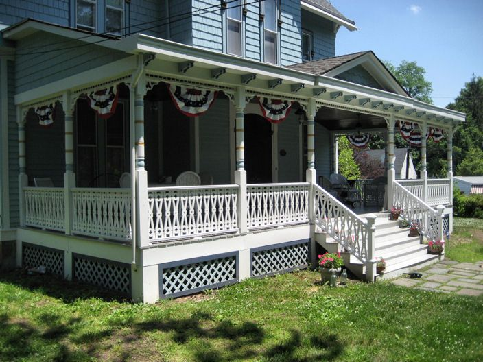 A Beautiful Half Wrap Around Porch I Want A Full Wrap Around But I Love The Detail House With Porch