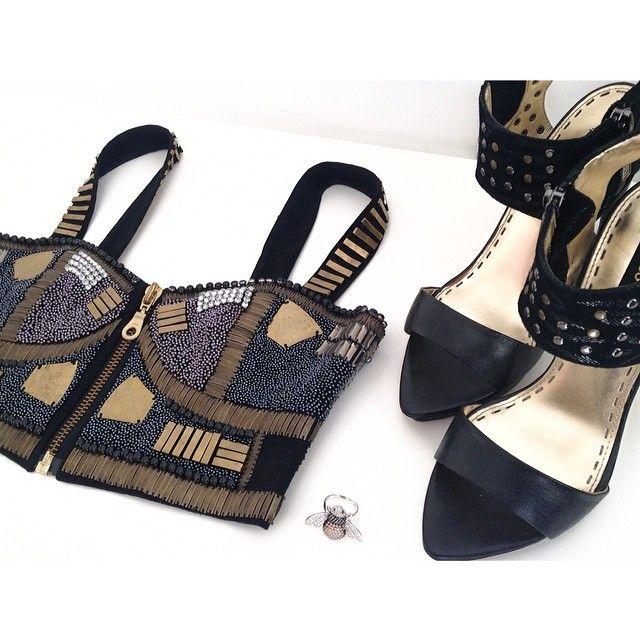 feeling decadent in @sassandbide, @_mimco & @najojewellery ♡♕ #sassandbide #mimco #najo #embellished #love #gold #black