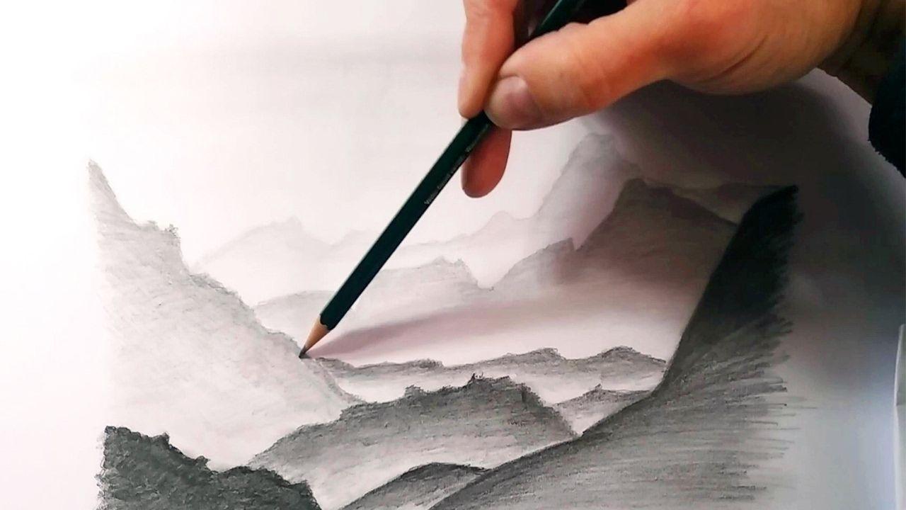 Mas Tecnicas De Dibujo A Lapiz Como Dibujar Paisajes Y Montanas Lejanos Youtube Arboles Dibujos A Lapiz Paisaje A Lapiz Dibujos Sombreados A Lapiz