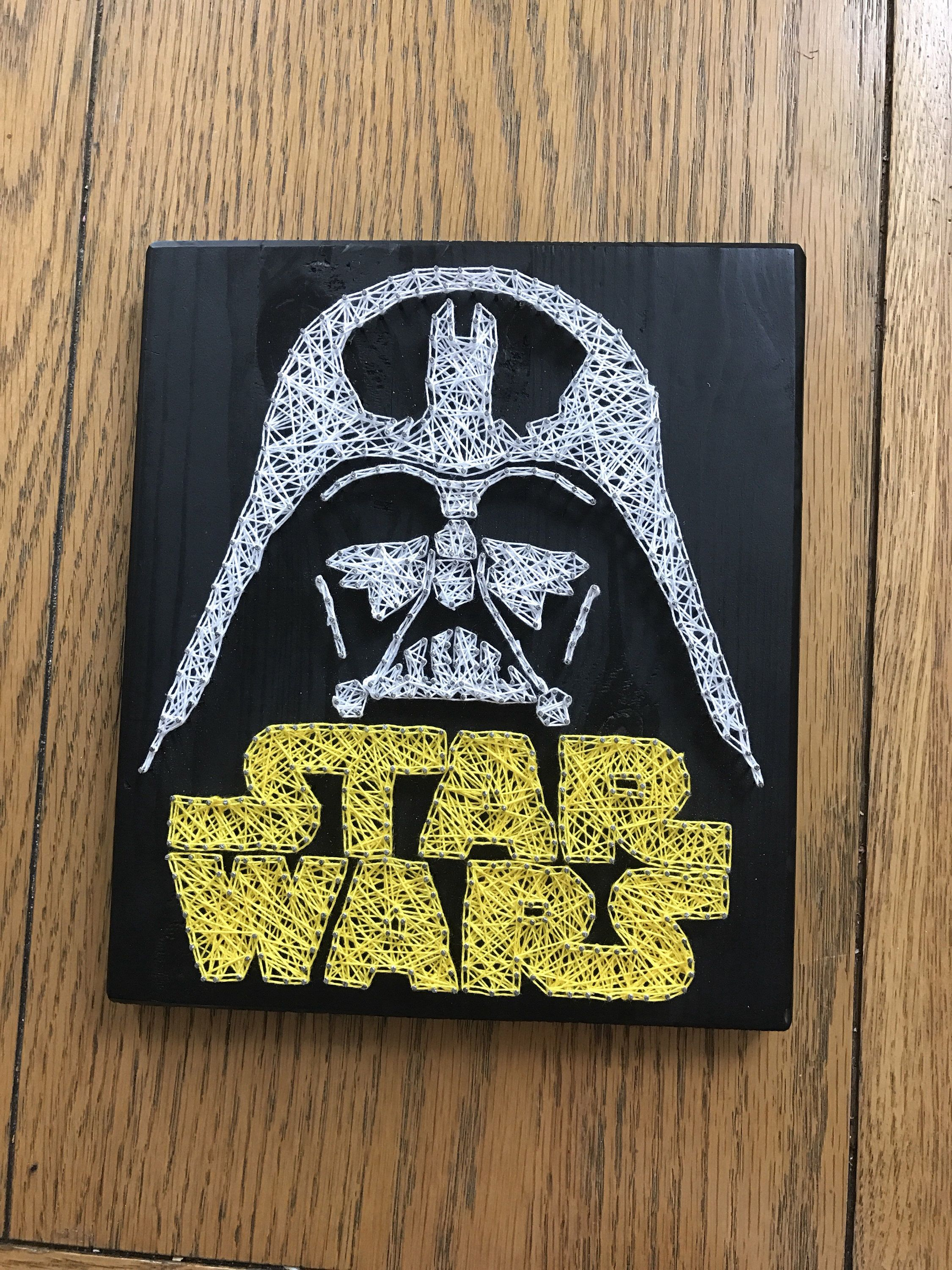 Star Wars and Darth Vader String Art. Cotton gift bag included ...