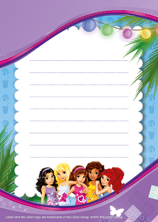 Pin By Crafty Annabelle On Lego Friends Printables