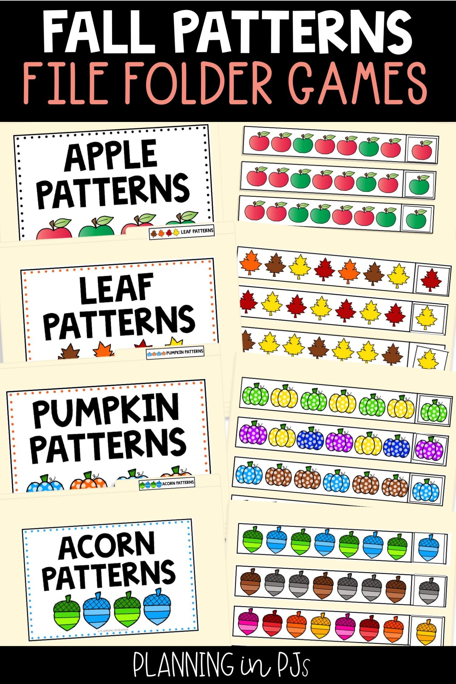 Fall Pattern Activities Bundle With Images