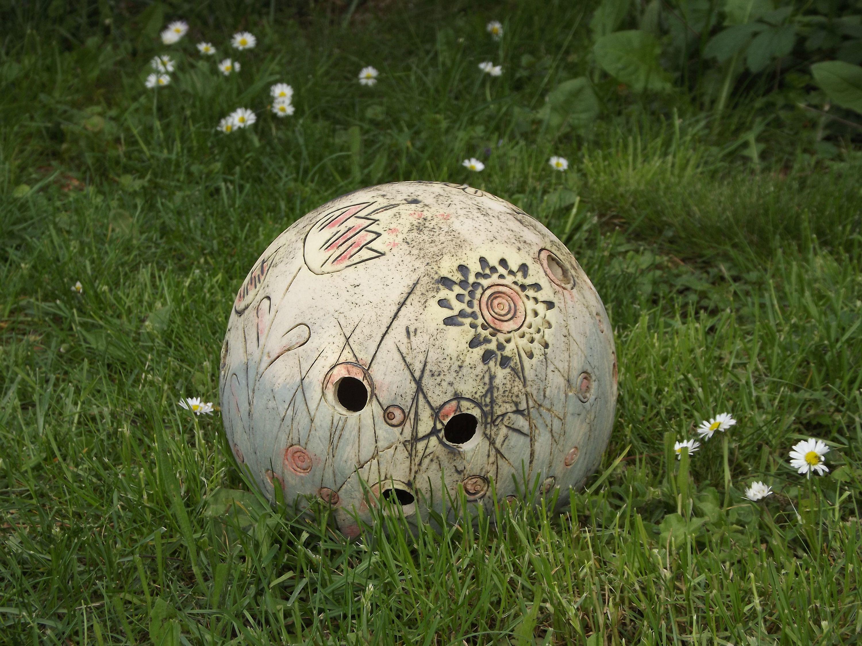 Xl Garten Kugel Schmuckkugel Handarbeit Keramik Deko Spirale Gartenkugeln Kugel Lampen Garten