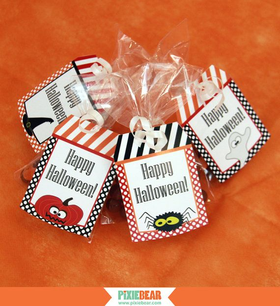 Halloween Treat Bag Tags by PixieBearParty on Etsy, $900 Party - halloween treat bag ideas