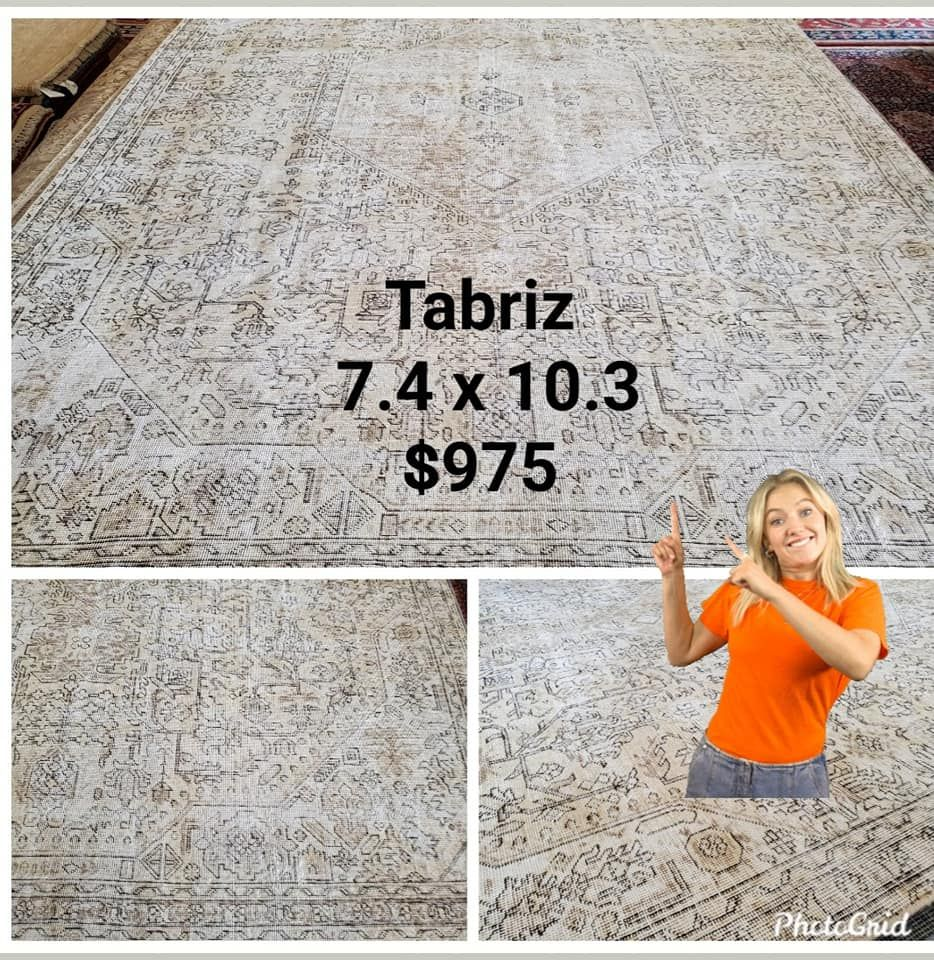 Traditional with a modern/transitional twist!  Just in and a steal at $975!  #nilipourorientalrugs #SpecialSavings #familybusiness #since1972 #fullservice #shoplocal #happycustomer #artyoucantreadon #orientalrug #rug #arearug #naturalfibers #wholesaleprices #directimporting #affordableluxury #functionalrug #practicalrug #appeal #qualityrug #investment #conversationpiece #Lifestyle #rugcleaning #orientalrugcleaning #arearugcleani