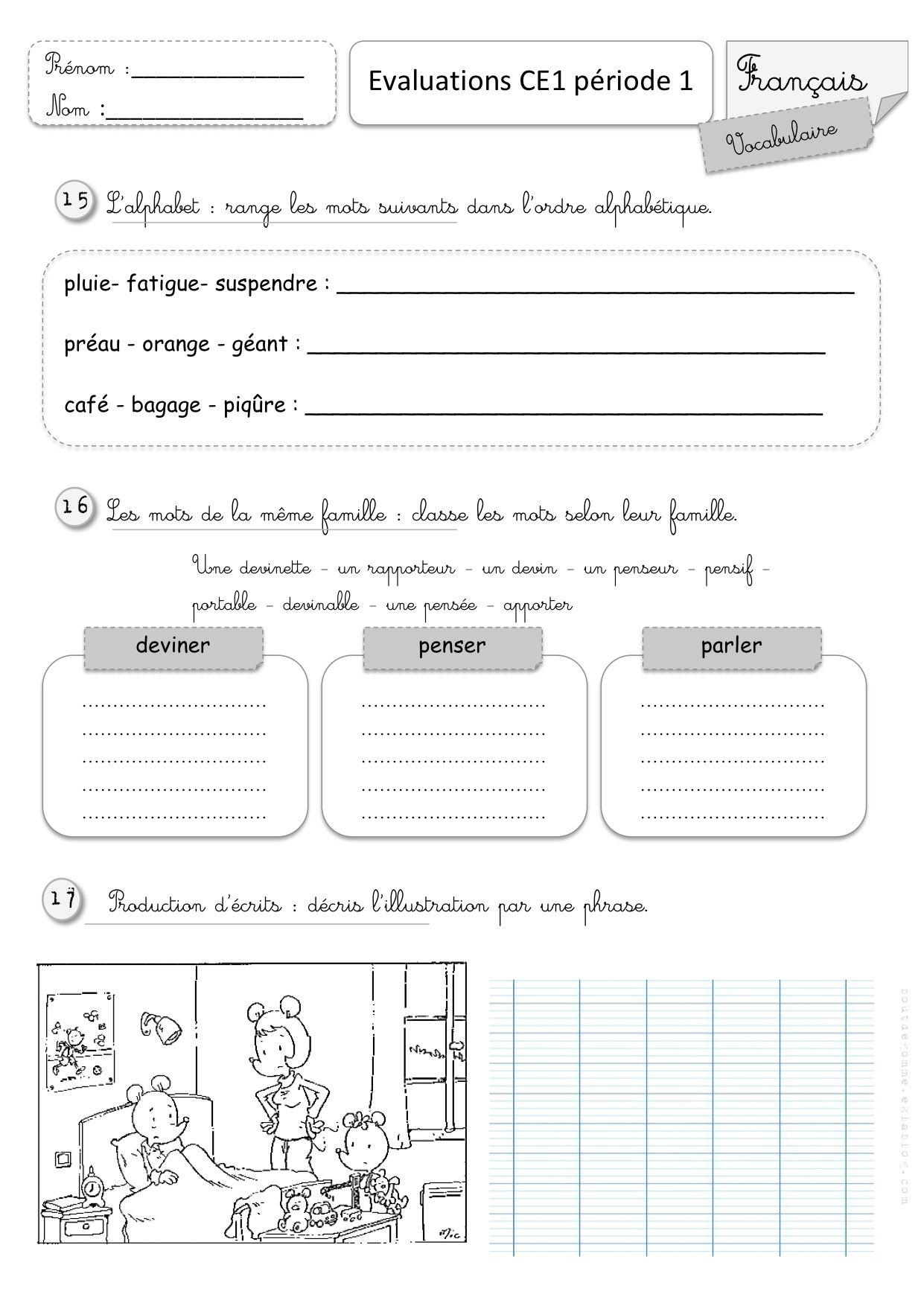 Coloriage Magique M Devant M B P.Evaluations Ce1 1er Semestre Francais Fichier French Education
