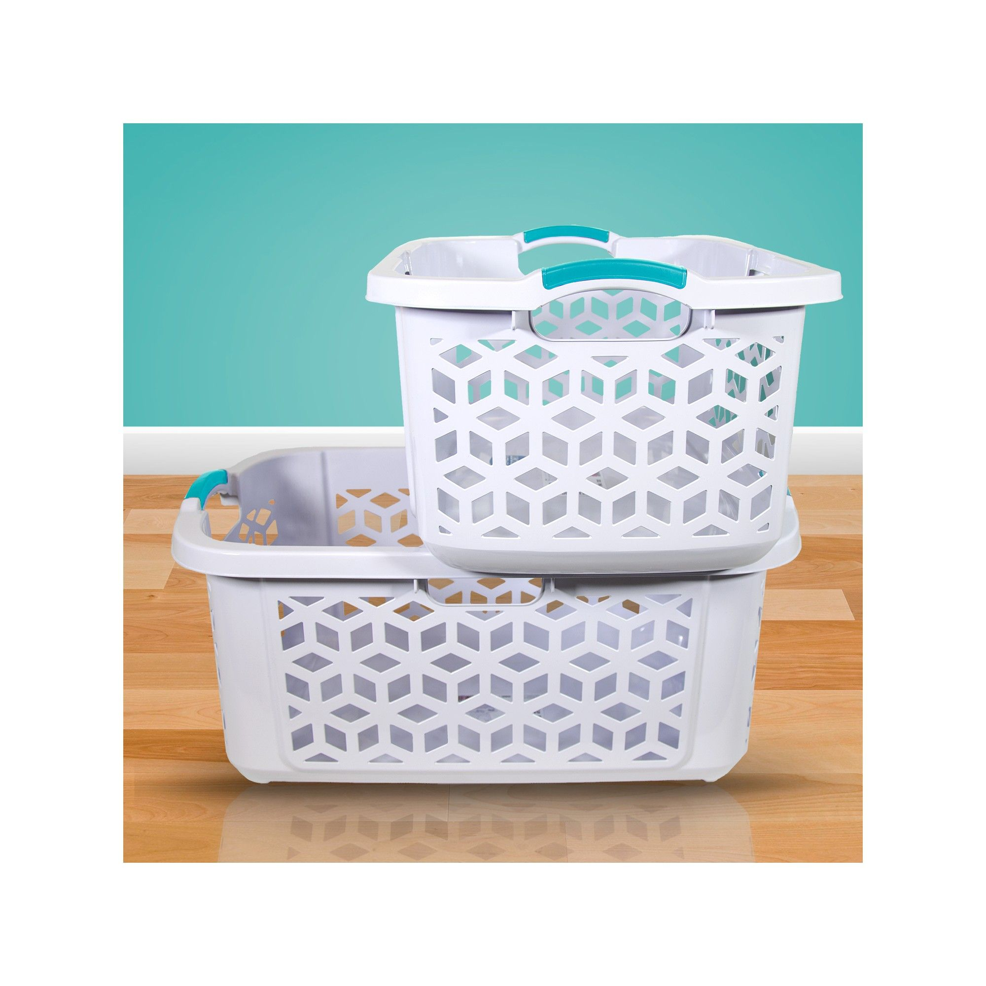 2 Bushel Stacking Laundry Basket Gray Room Essentials Laundry