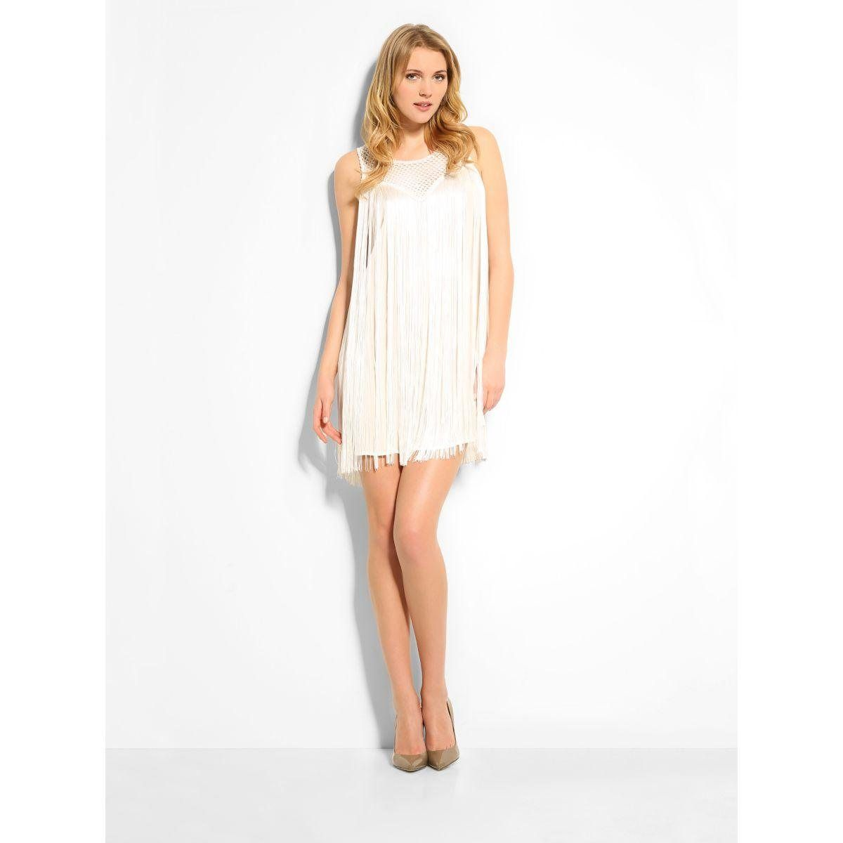 Robe dentelle blanche guess