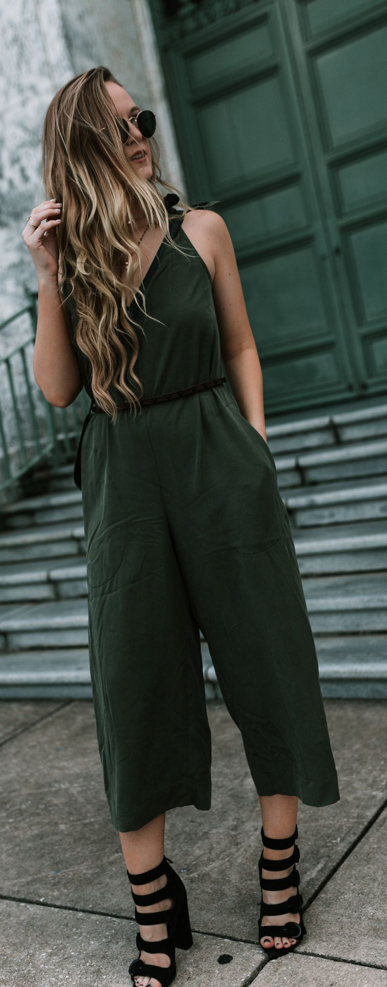 Olive Culotte Jumpsuit | Best Beauty & Style Tips | Fashion