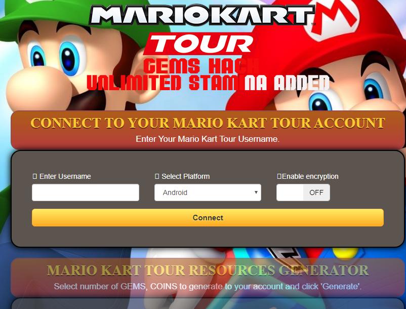 Mario Kart Tour Hack Tool [iOS /Android] [New Glitch