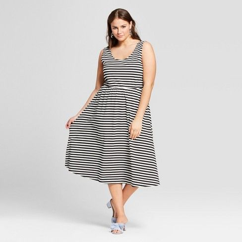 Womens Plus Size Flowy Tank Midi Dress Who What Wear Target