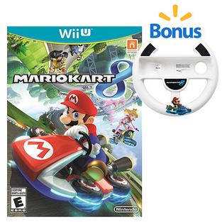 Mario Kart 8 With Walmart Exclusive Bonus Mario Wheel Wii U 59 96 Mario Kart 8 Nintendo Mario Kart Mario Kart