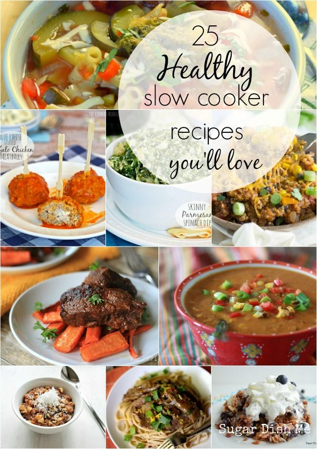 Healthy Slow Cooker Recipes to cover all your bases! Sides, dinners, soups, breakfasts -- lightened up versions of hearty meal time favorites.