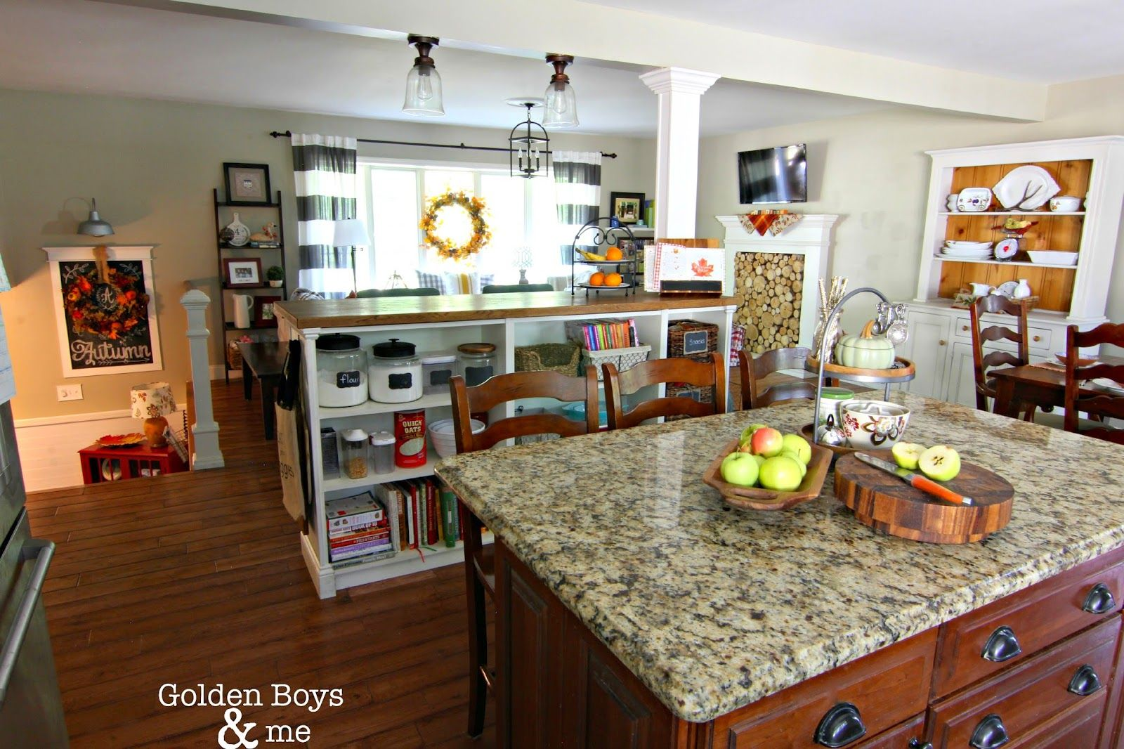 Golden Boys and Me | Living room kitchen, Kitchen living ...