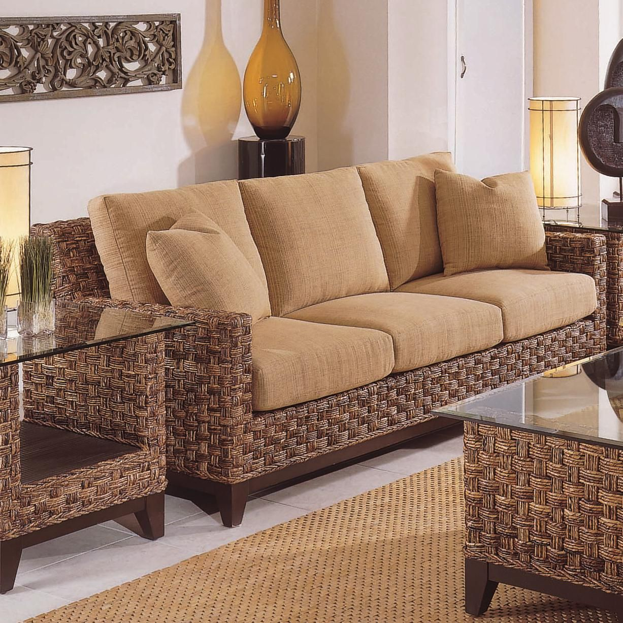 Braxton Culler Tribeca 2960 Modern Wicker Three Seat Queen Sleeper Sofa With Innerspring Mattress Hudson S Furniture Tampa St Petersburg