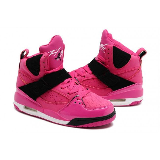 Girls-Jordan-Flight-45-Vivid-Pink-High-Tops-