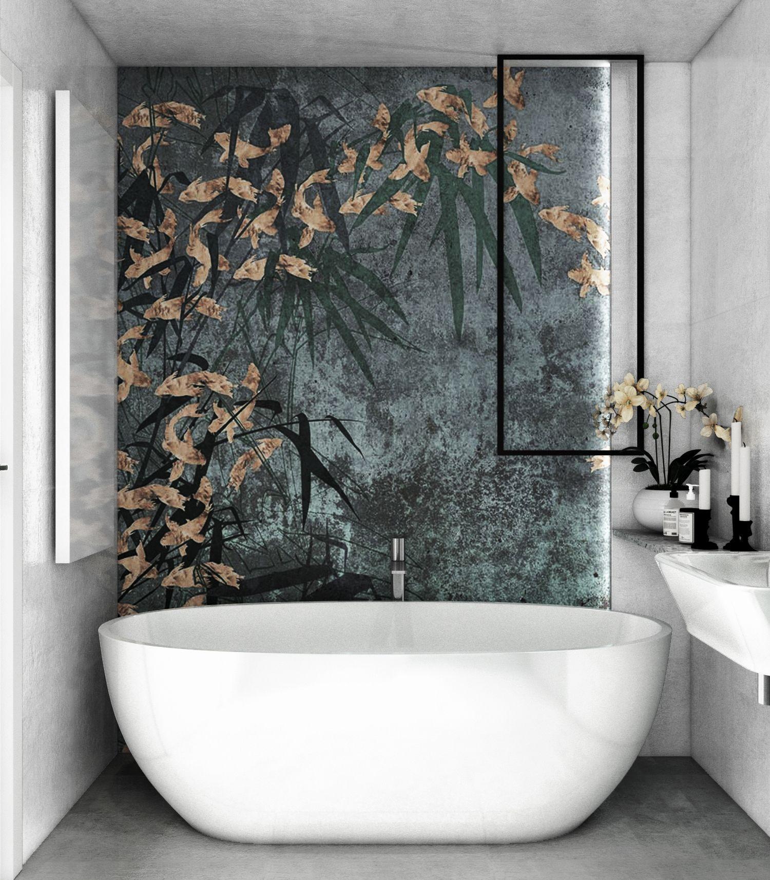Praca Konkursowa Betonowa łazienka Z Dodatkiem Tapety