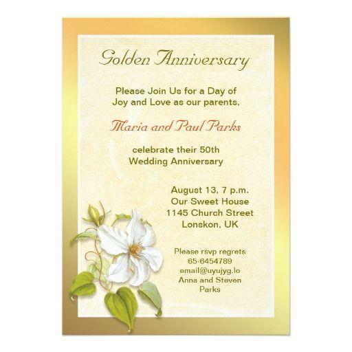 Golden 50th Wedding Anniversary Invitation Zazzle Com 50th Wedding Anniversary Invitations Wedding Anniversary Invitations 50th Wedding Anniversary