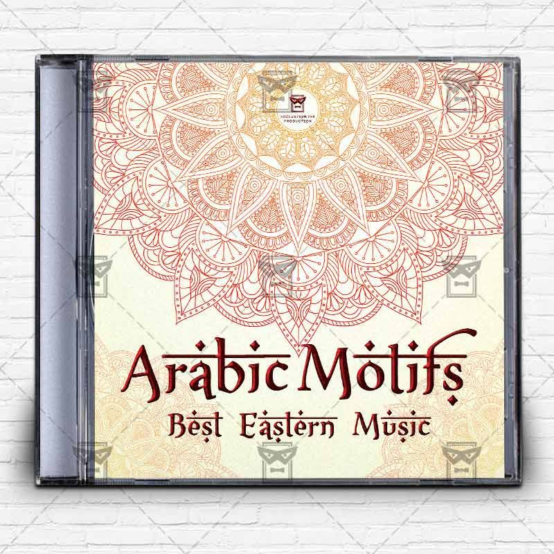 Arabic Motifs u2013 Premium Mixtape Album CD Cover Template http\/\/www - psd album cover template