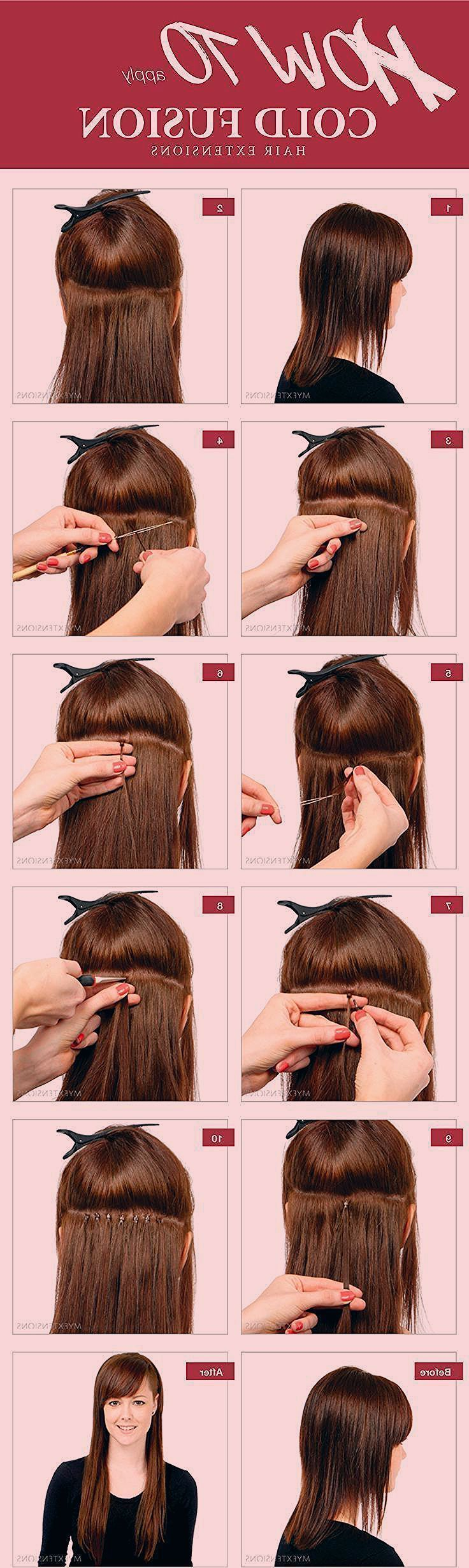how to put in hair extensions at home