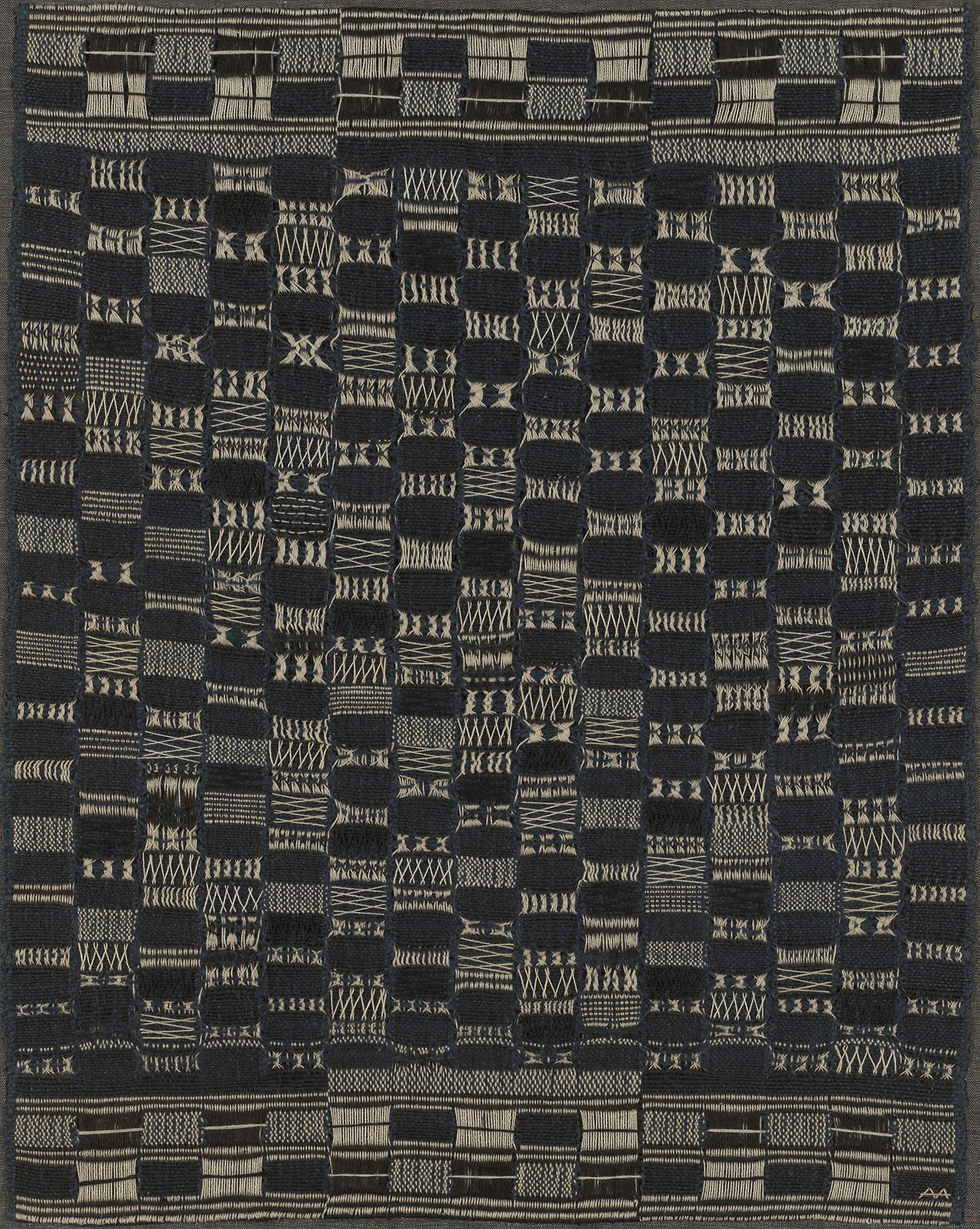 """garadinervi:  """"Anni Albers, Thickly Settled, 1956; included in Small-Great Objects: Anni and Josef Albers in the Americas, at the Yale University Art Gallery, New Haven, CT, February 3 – June 25, 2017  """""""