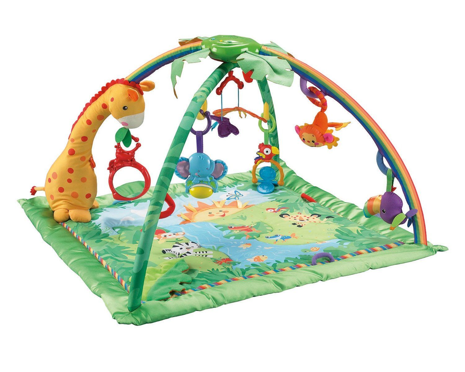 Amazon Fisher Price Rainforest Melodies And Lights Deluxe Gym