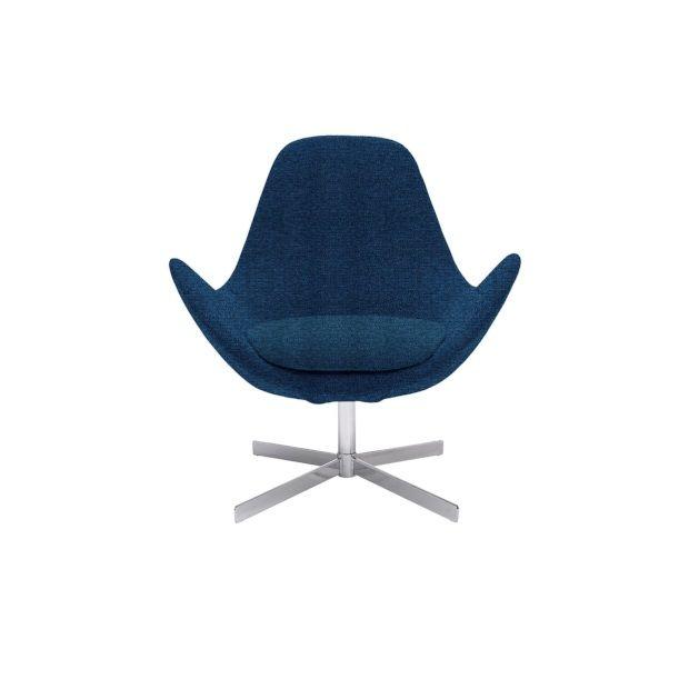 Egg Chair Stof.Triv Sunne Laag Fauteuil Stof Vayla Blauw Afbeelding 1 Chair