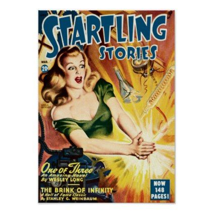 Startling Stories One Of Three Poster Retro Gifts Style Cyo