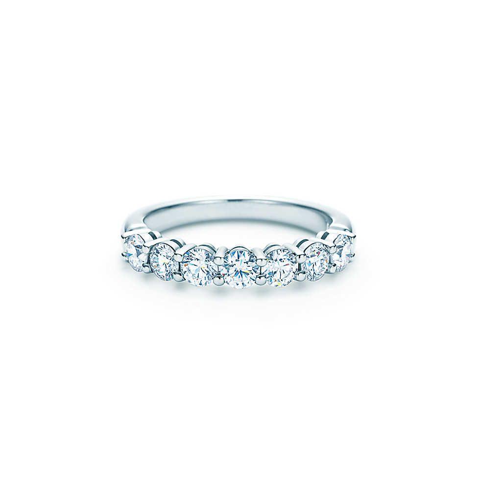 Band Ring Platinum Diamond Wedding Band Diamond Wedding