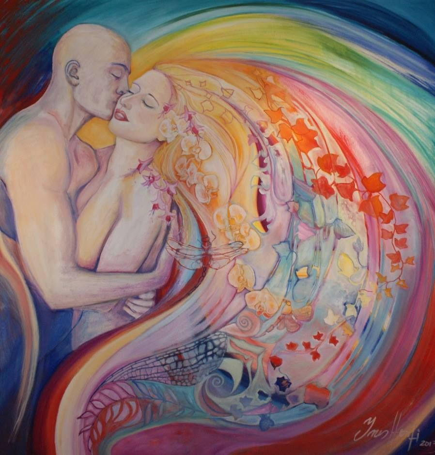 Are you ready to ride this Wave of Grace into a whole new existence; one in which you are One with and as Love, Trust, Miracles and Unlimitation? Can you allow your Soul to lead the way? Your Soul is Source. It is your fullest potential. ~ Kara ~ Soulstice Rising ♥ Beautiful Art ~ Rainbow Love Edenart by Ines Honfi