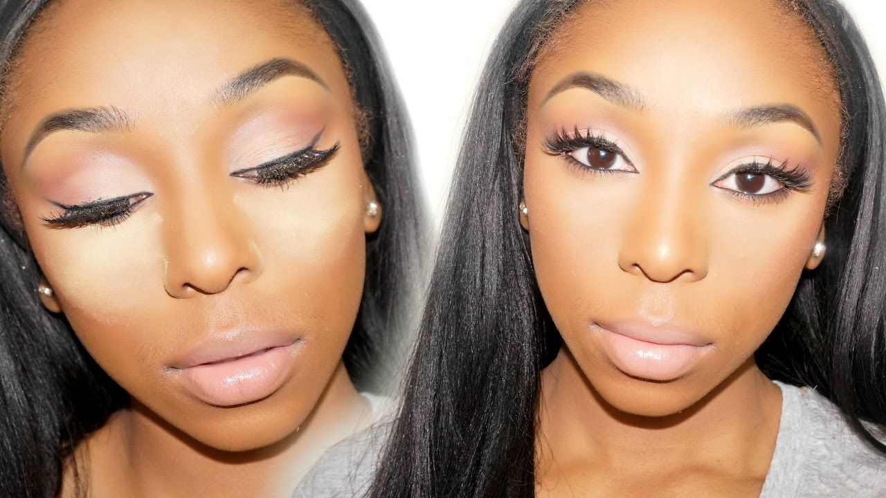 How to drugstore highlight contour routine dark skin how to how to drugstore highlight contour routine dark skin baditri Image collections