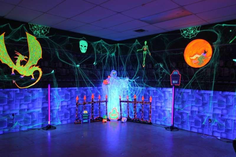 Fright Night Decorations Blacklight Halloween Decorations Glow Halloween Halloween Themed Wedding Blacklight Party