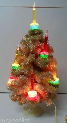 1940 S Noma Electric Co 9 Light C 6 Christmas Bubble Tree White
