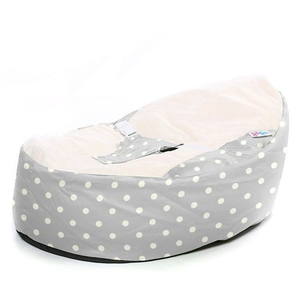 Awe Inspiring Luxury Cuddle Soft Bright Polka Dot Gagac Grey Baby Bean Machost Co Dining Chair Design Ideas Machostcouk